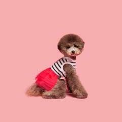 Stripe tutu-pink