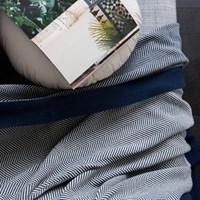 인헤링본 담요-네이비(130x180).