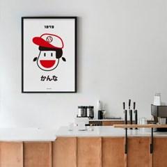 일본 인테리어 디자인 포스터 M 칸나 1979 일본소품