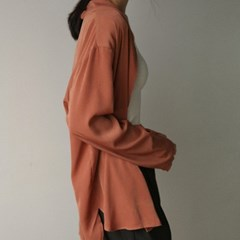 one button silky cardigan