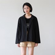 Casual short cotton jacket