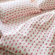 핑크 베이비 피그 침구 세트(데님 원단)