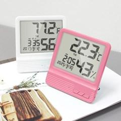 쾌적한 실내환경 대형LCD 디지털 온습도 탁상알람시계_(666445)