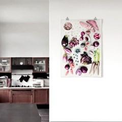 패브릭 천 포스터 F063 테피스트리 Eat purple color