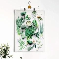 패브릭 천 포스터 F062 주방 소품 Eat green color