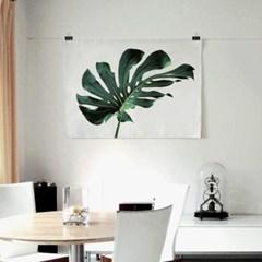 패브릭 천 포스터 F059 식물 벽걸이 몬스테라 no.2