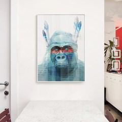 메탈 모던 동물 그림 액자 폴리곤 아트 원숭이