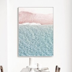 메탈 모던 풍경 사진 포스터 액자 파도 바다