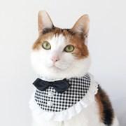 [MIYOPET] 블랙앤화이트 고양이 강아지 스카프 넥카라