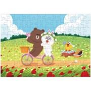 라인프렌즈 큐브 직소퍼즐 108조각 자전거 데이트