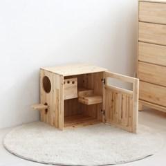 [잉카] 네코 삼나무 원목 고양이 화장실