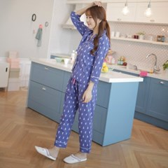 [w] Lobster Pajama Set Navy