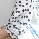 [w] Navy Dot Pajama Set