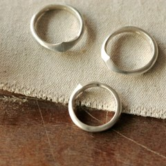 [normaldott] rhombus silver ring _ 2 types