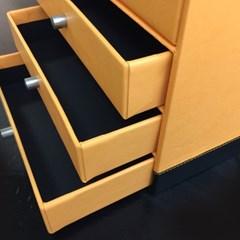 [로디아] 4단 문서보관함_오렌지