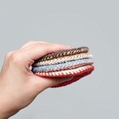 크래커 양면 컵받침 - 손뜨개 KIT
