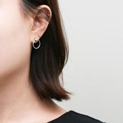 [925 실버]원도트 서클 실버 귀걸이=ER2060