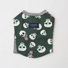 [꾸치올리] GREEN SKULL T-SHIRT