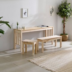 아카시아원목 1600×450 다용도 긴 테이블 식탁 넓은 책상