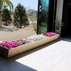 원목 텃밭 화분 1800(중형) 베란다 정원만들기옥상꾸미기