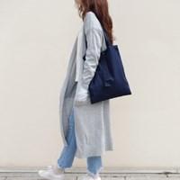 classy cotton bag - 네이비