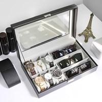 명품 선글라스 안경 시계 주얼리 수납정리 가죽보관함_(679605)