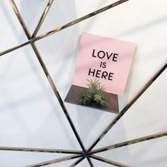 [액자 플레이트]LOVE IS HERE-PINK