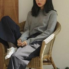 basic round wool knit
