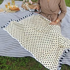 Cream Dot- Beach Towel