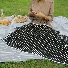 Black Dot- Beach Towel