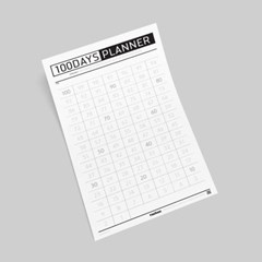 NEW작심백일 포스터+스티커SET B타입(100일 플래너)