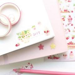마넷 스티커 - Strawberry&rabbit(딸기&토끼)