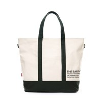 STENCIL CANVAS TOTE BAG - GREEN