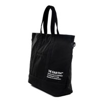 STENCIL CANVAS TOTE BAG - BLACK