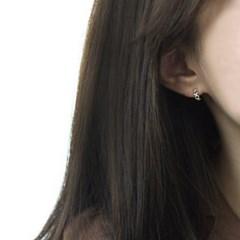 Doughnut earring (실버 원형 귀걸이) [92.5 silver]