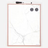 마블 화이트 & 자석 보드 / Copper Frame Magnetic Dry Erase Board