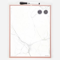 마블 화이트 & 자석 보드 / Copper Frame Magnetic Dry Erase Board