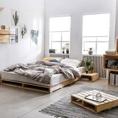 접이식 파렛트 1200X2000 원목 저상형  침대프레임