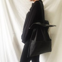 cotton shirring bag-charcoal