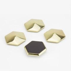 Gold Hex Magnets / 골드 육각 메모자석