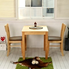 모쿠 원목 가죽식탁의자 세트 (2개)