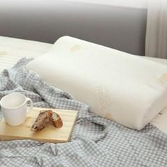 오가닉 순면 라텍스베개 커버 - 땅콩형/유아용S