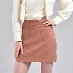 [hand me down/핸드미다운] Marshmello Tweed Skirt – Pink