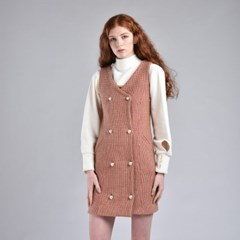 [hand me down/핸드미다운] Marshmello Tweed Dress – Pink