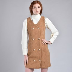 [hand me down/핸드미다운] Marshmello Tweed Dress – Brown