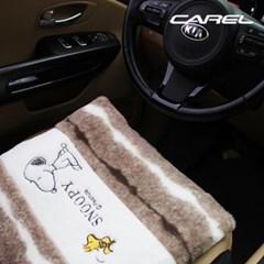 CAREL 스누피 위드 방석 / 스누피 방석 / 겨울 자동차 방석