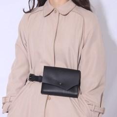 leather belt bag_ bk '址手'