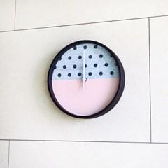 폴카 닷츠 벽시계