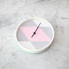 아가일 핑크 벽시계