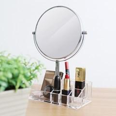 3배 확대 양면거울 화장품 립스틱 정리 뷰티박스_(694653)